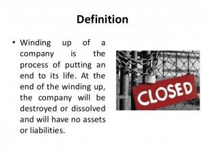 Closing & Windingup a Company